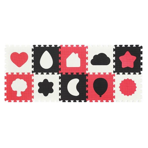 BabyOno Pěnové puzzle - Tvary - 10 ks 395/01