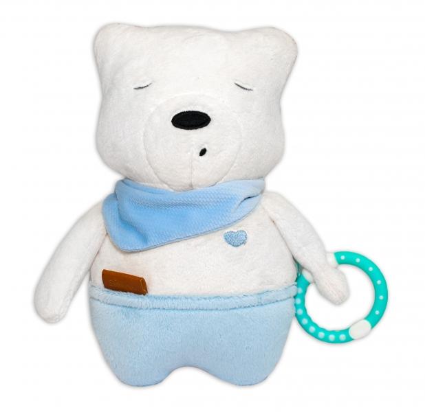 Szumisie Šumící mazlíček Medvídek Simon, 25 cm - modrý/béžová