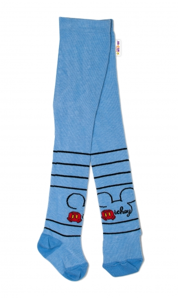 Bavlněné punčocháče Disney Mickey ouško - modré,  vel.  62/74