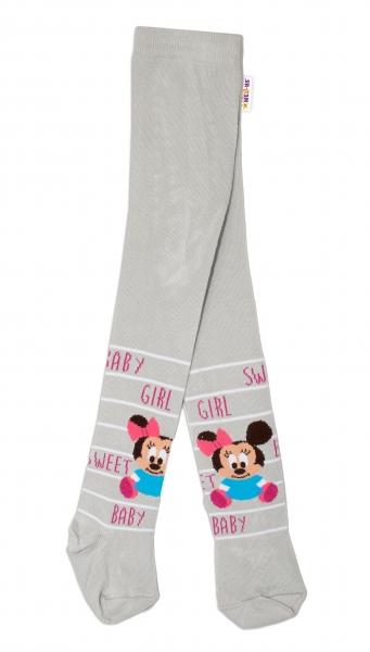 Bavlněné punčocháče Disney Minnie Baby - šedé,  vel. 62/74