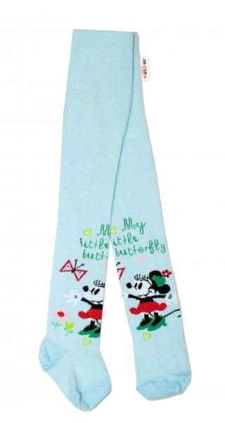 Bavlněné punčocháče Disney Minnie  - mátové,  vel.  62/74