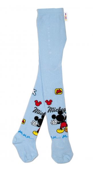 Bavlněné punčocháče Disney Mickey - sv. modré,  vel.  62/74