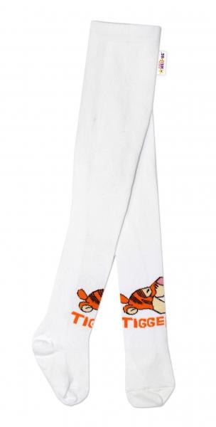 Bavlněné punčocháče Disney Tygřík - bílé,  vel.  62/74