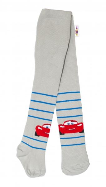 Bavlněné punčocháče Disney Cars - šedé, vel.  62/74