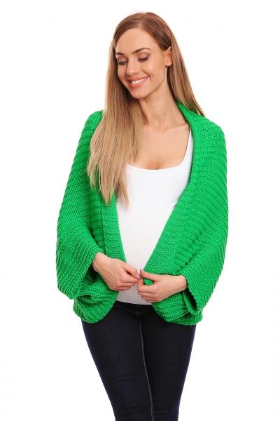 Be MaaMaa Volný těhotenský kardigan - zelený