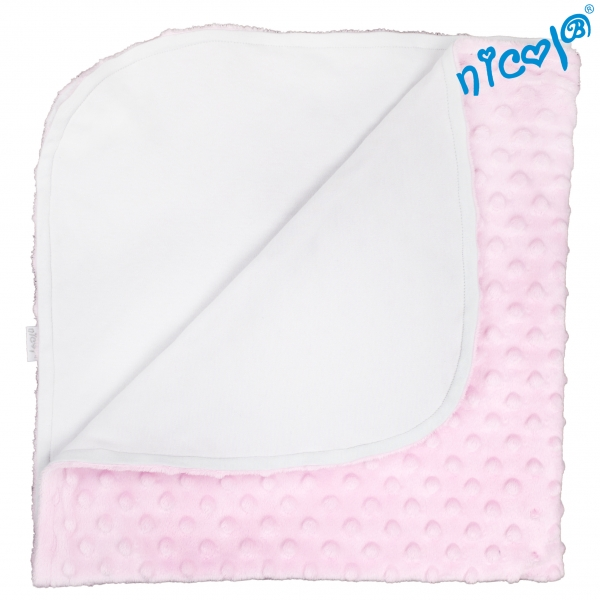 Dětská deka, dečka Nicol Baletka - minky růžová