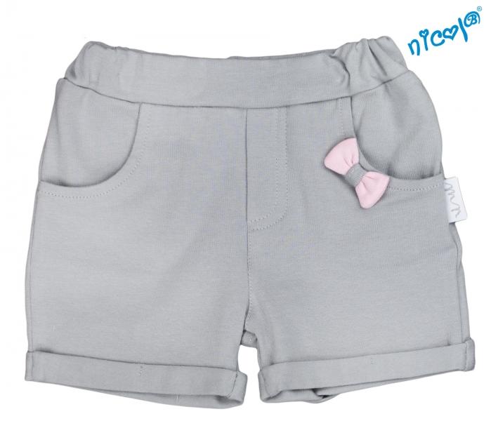 Kojenecké kraťasy Nicol, Baletka - šedé, Velikost: 56 (1-2m)