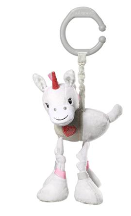 BabyOno Závěsná plyšová hračka s vibrací Jednorožec Lucky, 25 cm