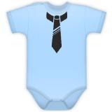 Body kr. rukávek s potiskem kravaty, vel. 86 - sv. modré
