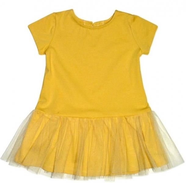 Kojenecké šaty K-Baby - hořčicové, Velikost: 62 (2-3m)