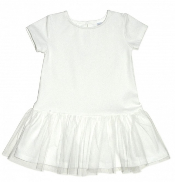 Dívčí šaty K-Baby - smetanové, vel. 98