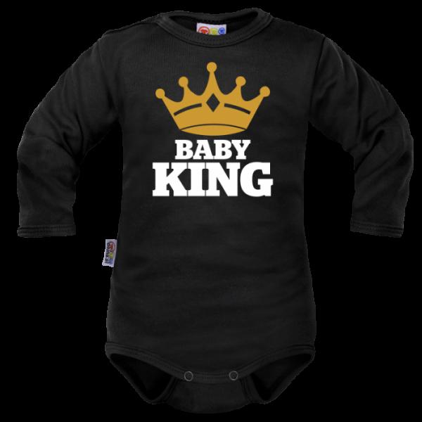 Body dlouhý rukáv Dejna Baby King - černé, Velikost: 62 (2-3m)