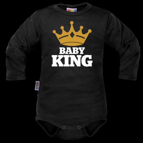 Body dlouhý rukáv Dejna Baby King - černé, vel. 68, Velikost: 68 (4-6m)