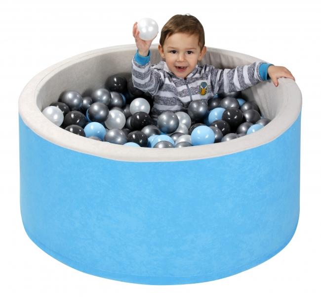 NELLYS Bazén velký pro děti 90x40cm + 200 balónků - červený