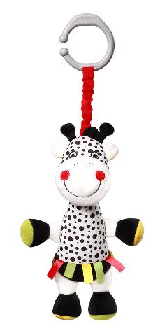 BabyOno Závěsná plyšová hračka s vibrací Žirafa Adelle, 36 cm