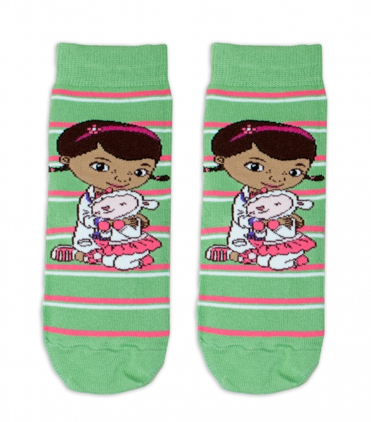 Bavlněné ponožky Disney Doc McStuffins  - zelené, vel. 27/30vel. 27-30 vel. ponožek