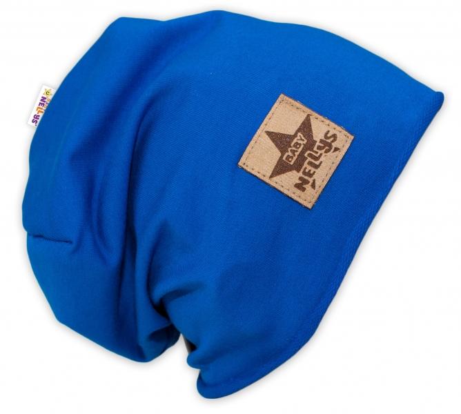 Bavlněná čepička Baby Nellys ® - tm. modrá