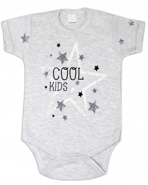 Body krátký rukáv ZBaby, Cool Baby - šedé