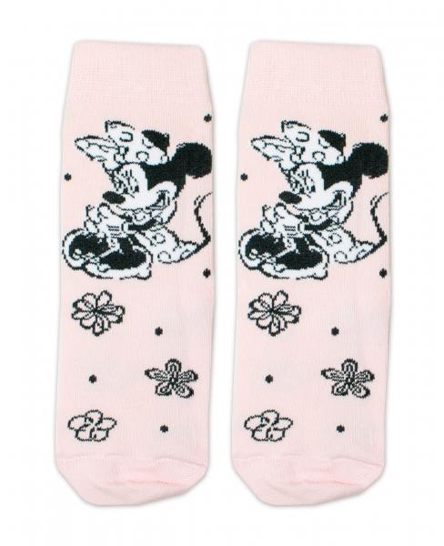 Bavlněné ponožky Disney Minnie  - sv. růžové, veľ. 27/30