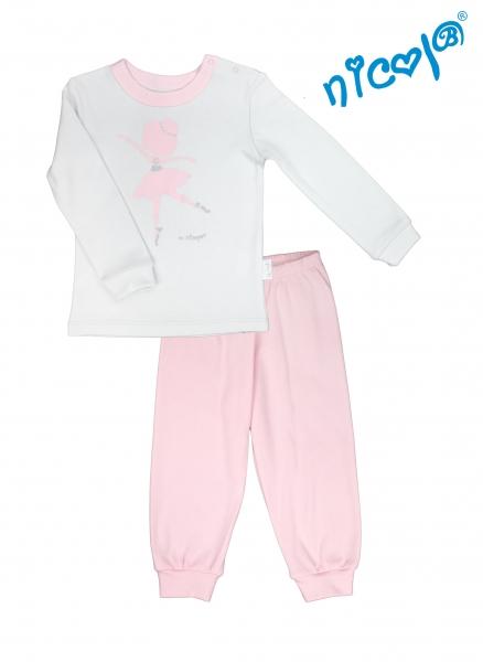 Dětské pyžamo Nicol, Baletka - šedo/růžové, vel. 92vel. 92 (18-24m)