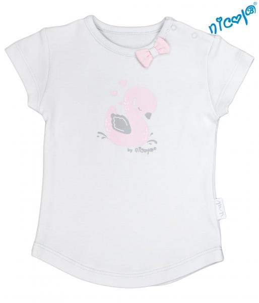 Kojenecké bavlněné tričko Nicol, Baletka - krátký rukáv, šedé, vel. 62vel. 62 (2-3m)