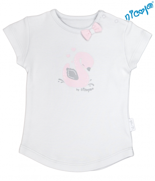 Kojenecké bavlněné tričko Nicol, Baletka - krátký rukáv, šedé, vel. 80vel. 80 (9-12m)