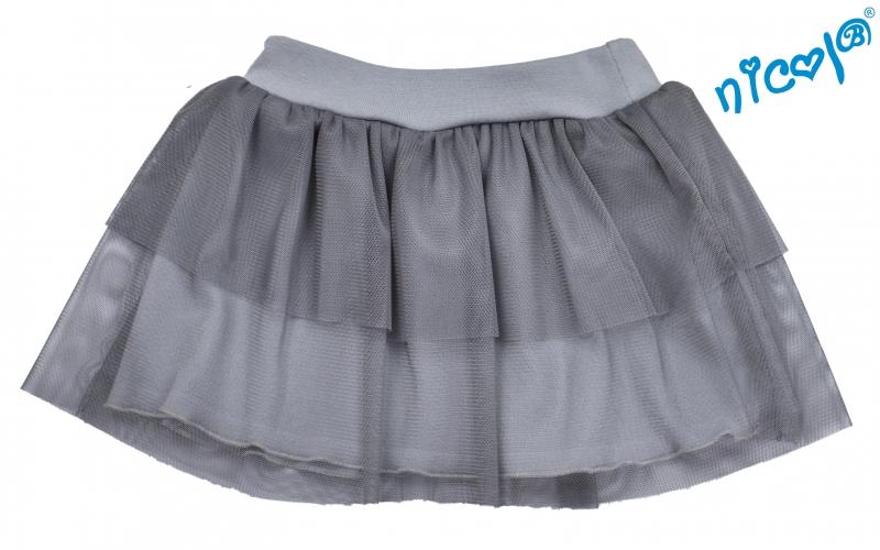 Dětská sukně Nicol, Baletka - šedá, vel. 122vel. 122