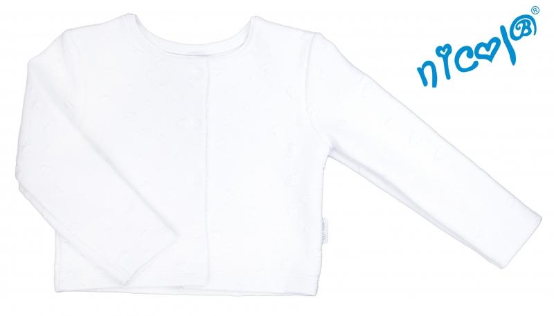 Kojenecké sako/bolérko Nicol žakárové Baletka - bílé