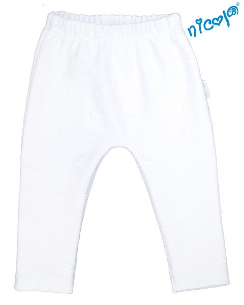 Dětské žakárové kalhoty Nicol Baletka - bílé, vel. 68