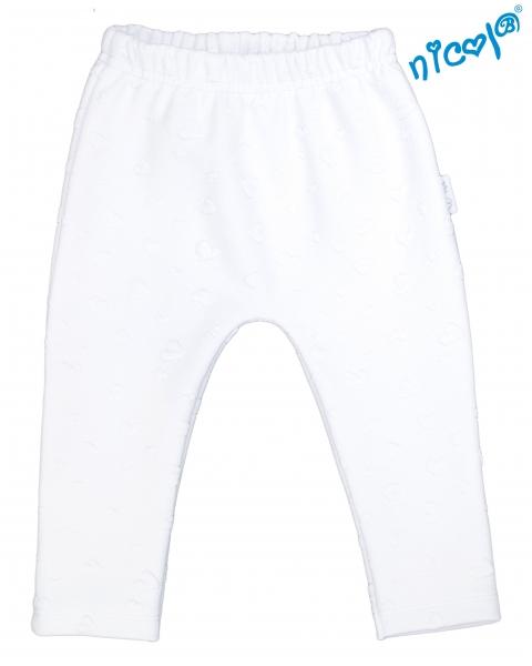 Dětské žakárové kalhoty Nicol Baletka - bílé, vel. 86vel. 86 (12-18m)