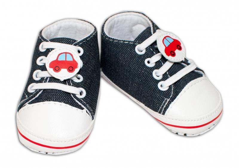 YO ! Kojenecké boty/capáčky s autíčkem - grafitové