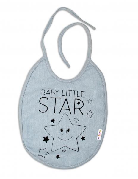 Bryndáček Baby Nellys velký Baby Little Star - šedý