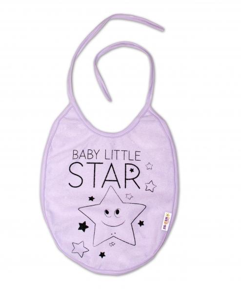 Bryndáček Baby Nellys velký Baby Little Star - lila