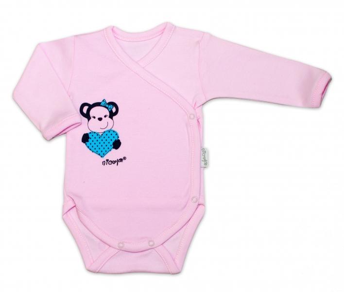 Soupravička do porodnice 5D Nicol, Opička  - růžová