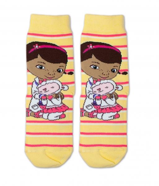 Bavlněné ponožky Disney Doc McStuffins - žluté, vel. 23/26