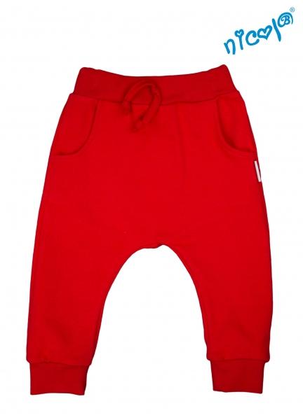 Kojenecké bavlněné tepláky Nicol, Sailor - červené, vel. 62, Velikost: 62 (2-3m)