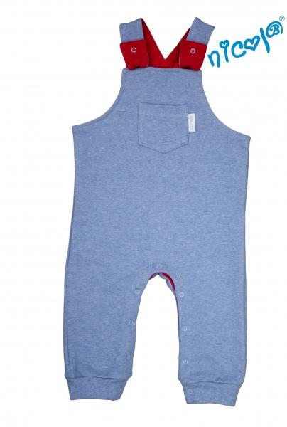Kojenecké bavlněné lacláče Nicol, Sailor - modré, vel. 86vel. 86 (12-18m)