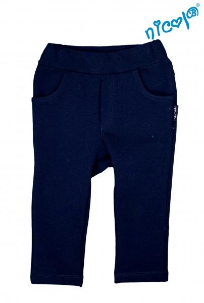 Kojenecké bavlněné tepláky Nicol, Sailor - tm. modré, vel. 80, Velikost: 80 (9-12m)