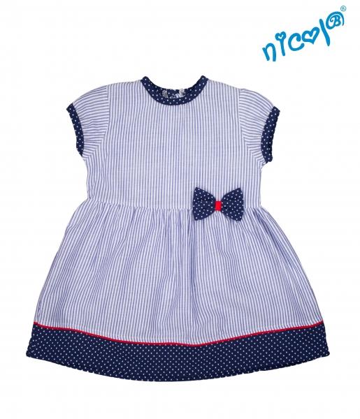 Kojenecké šaty Nicol, Sailor - granátové/proužky, vel. 74vel. 74 (6-9m)