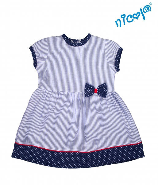 Kojenecké šaty Nicol, Sailor - granátové/proužky, vel. 80