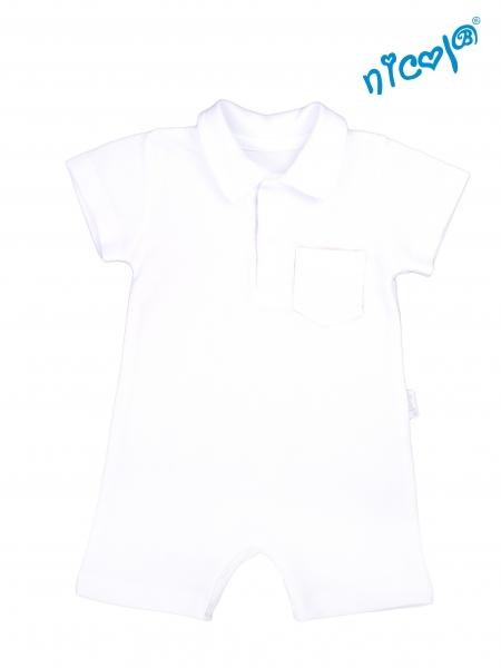 Kojenecké body s nohavičkami Nicol - krátký rukáv, Sailor - bílé, Velikost: 52