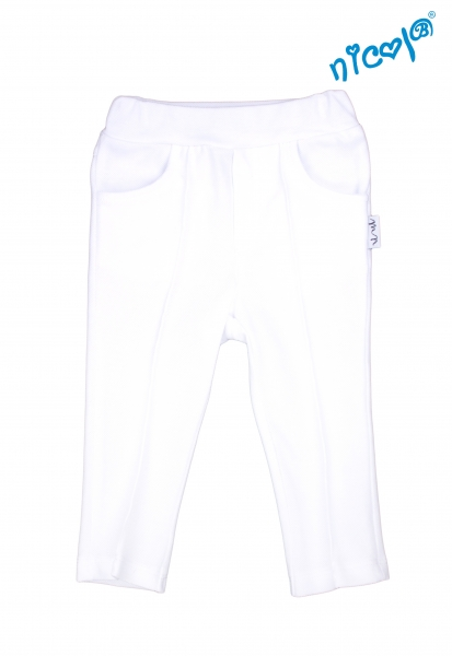 Dětské bavlněné kalhoty Nicol, Sailor - bílé, vel. 98