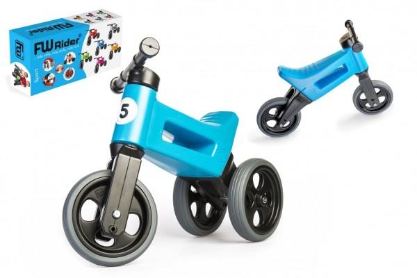 Odrážedlo FUNNY WHEELS Rider Sport modré 2v1, výška sedla 28/30cm nosnost 25kg 18m+ v