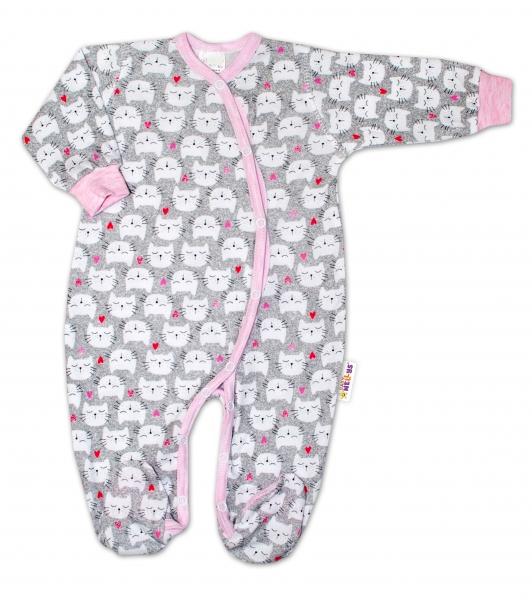 Kojenecká dívčí sada overálků zapínání bokem Baby Nellys ® - 3 ks