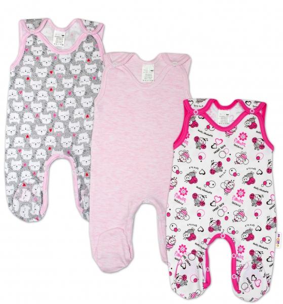 Kojenecká dívčí sada dupaček Baby Nellys ® - 3 ks, vel. 62vel. 62 (2-3m)