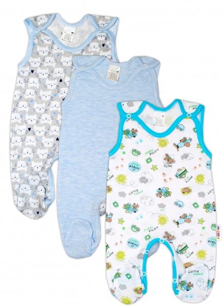 Kojenecká chlapecká sada dupaček Baby Nellys ® - 3 ks, vel. 62vel. 62 (2-3m)