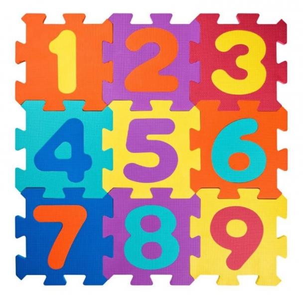 Plastica Pěnové podlahové puzzle Čísla - 18 ks