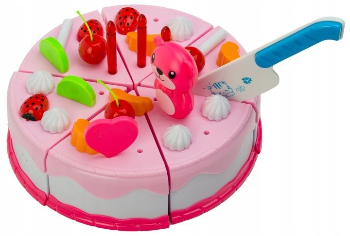 Dřevěný narozeninový dort Wanyida Toys - 80 dílků
