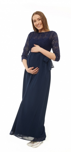 Be MaaMaa Těhotenské, společenské šaty - granátové, vel. M