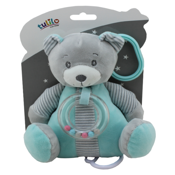 Závěsná plyšová hračka Tulilo s melodií Medvídek, 18 cm - mátový